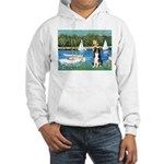 Sailboats & Border Collie Hooded Sweatshirt