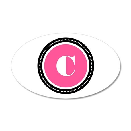 Pink 35x21 Oval Wall Decal