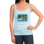 Sailboats & Border Collie Jr. Spaghetti Tank