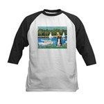 Sailboats & Border Collie Kids Baseball Jersey