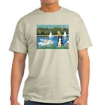 Sailboats & Border Collie Light T-Shirt