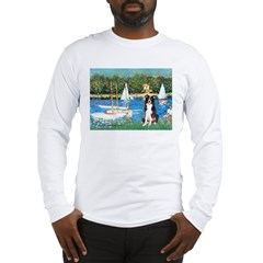 Sailboats & Border Collie Long Sleeve T-Shirt