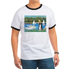 Sailboats & Border Collie Ringer T