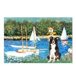 Sailboats & Border Collie Postcards (Package of 8)