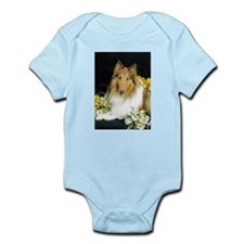 Collie Flowers Body Suit