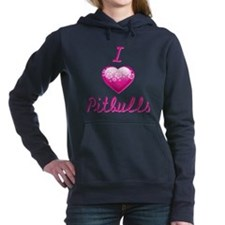 I Love/Heart Pitbulls Hooded Sweatshirt