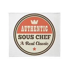 Vintage Sous Chef Throw Blanket
