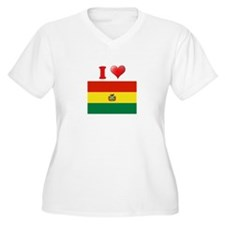 I love Bolivia Flag T-Shirt