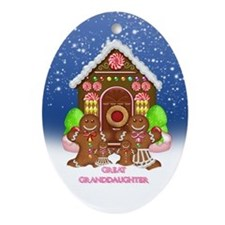 Great Granddaughter Christmas Gingerbread (Oval)
