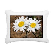 A pair of Flowers Rectangular Canvas Pillow