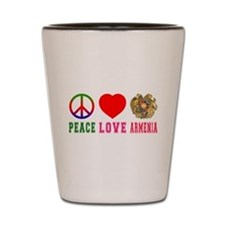 Peace Love Armenia Shot Glass