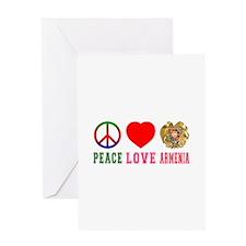 Peace Love Armenia Greeting Card