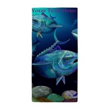 Blue Fin Tuna Design Beach Towel