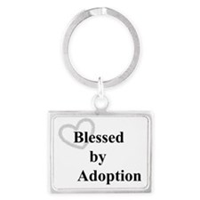 Blessed by Adoption Landscape Keychain
