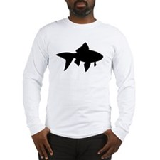 Goldfish Silhouette Long Sleeve T-Shirt