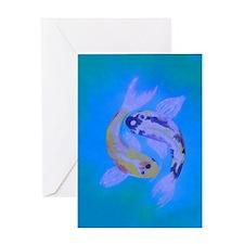 Yin Yang Koi Greeting Card