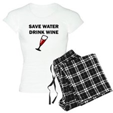 Save Water Drink Wine pajamas