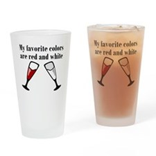 My Favorite Colors Are Red And White Drinking Glas