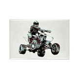 ATV Racing Rectangle Magnet (100 pack)