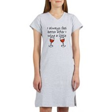 After I Wine A Little Women's Nightshirt