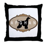 picture frame afghan hound Throw Pillow