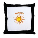 Australia Sun Throw Pillow