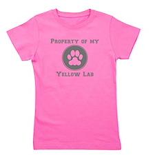Property Of My Yellow Lab Girl's Tee