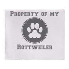 Property Of My Rottweiler Throw Blanket