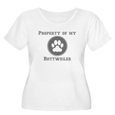 Property Of My Rottweiler Plus Size T-Shirt
