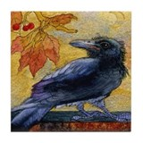 Tuscan Moon and Crow Raven Tile Coaster