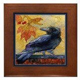Tuscan Moon and Crow Raven Framed Tile