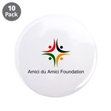 Amici Logo 3.5&Quot; Button (10 Pack)