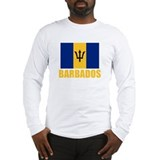 Barbados Flag Long Sleeve T-Shirt