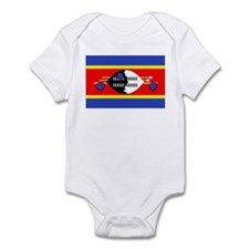 Cute Swaziland travel Infant Bodysuit