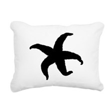 Starfish Silhouette Rectangular Canvas Pillow