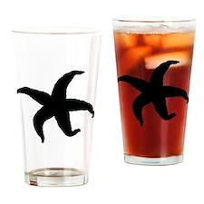 Starfish Silhouette Drinking Glass
