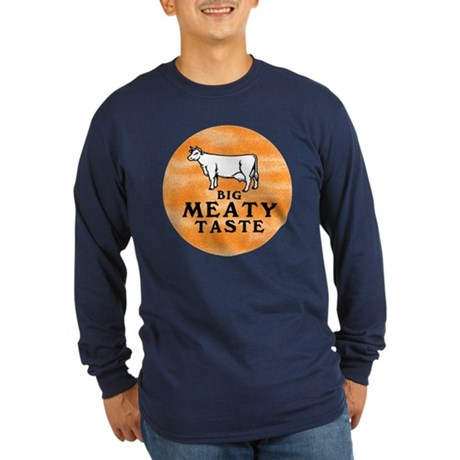Big Meaty Long Sleeve Dark T-Shirt