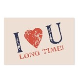 I &lt;3 U Long Time Postcards (Package of 8)