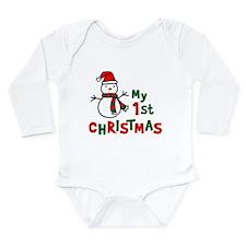 My 1st Christmas - Snowman Body Suit