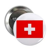 "Cute Swiss flag 2.25"" Button (10 pack)"