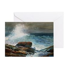 Winslow Homer - Incoming Tide, Scarb Greeting Card