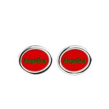 Angelica Red and Green Cufflinks