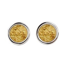 NASA Meatball Gold Logo Cufflinks