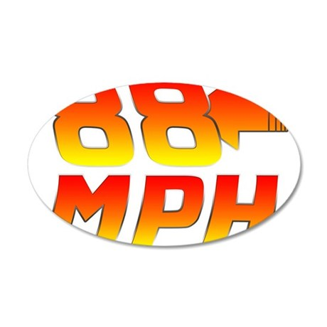 88 MPH 20x12 Oval Wall Decal