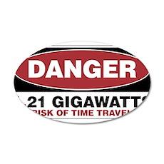 Danger 1.21 Gigawatts 20x12 Oval Wall Decal