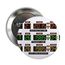 "BTTF Time Clock 2.25"" Button (10 pack)"