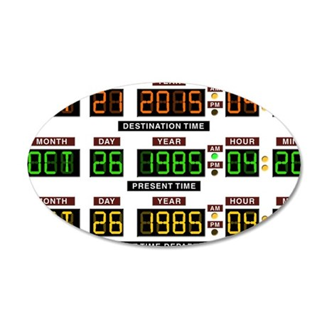 BTTF Time Clock 35x21 Oval Wall Decal