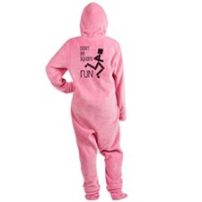 Funny Running Square Guy Footed Pajamas