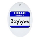 hello my name is jaylynn  Oval Ornament