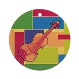 Violin Colorblocks Ornament (Round)